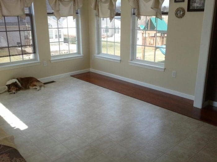 Wood Laminate Installation in the Sunroom