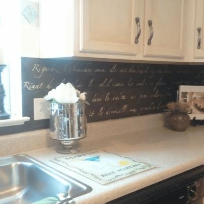 DIY: Stenciled Kitchen Backsplash