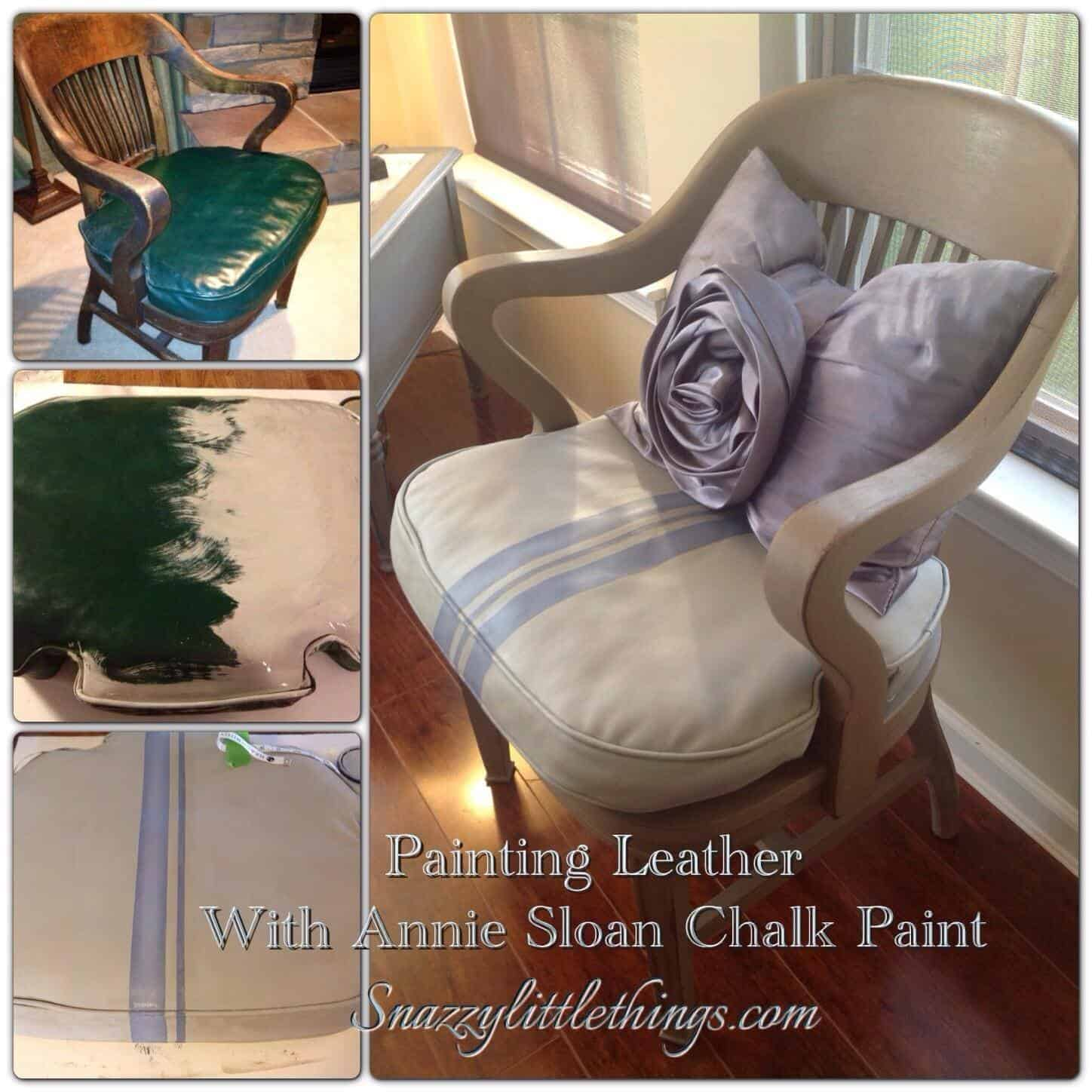 DIY Painting Leather Furniture snazzy little things