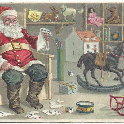 1918 Christmas Postcard