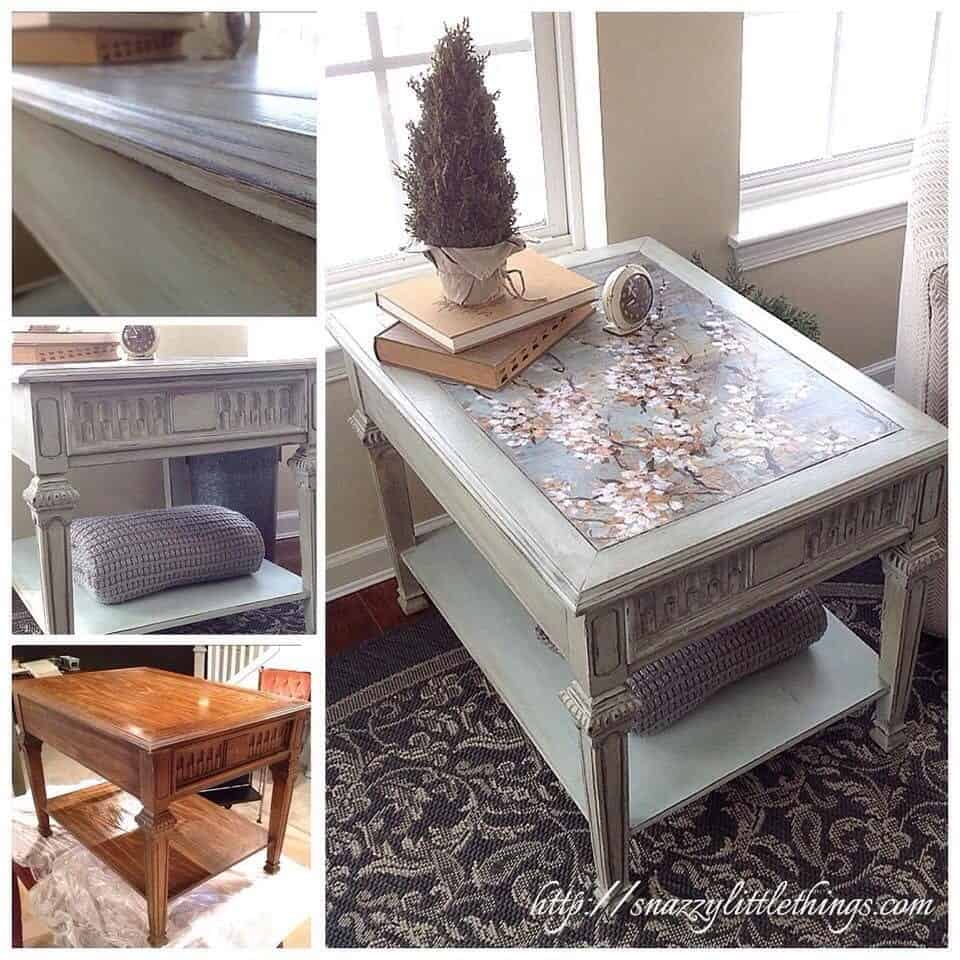 Table Upcycle with Decoupage and Chalk Paint
