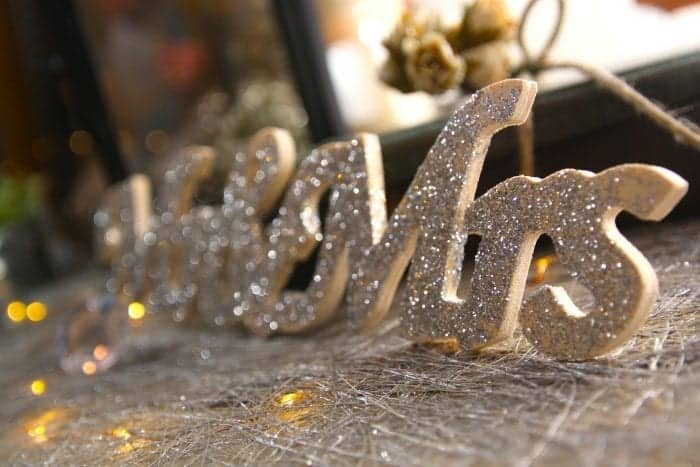 Glitter Mr and Mrs Wedding Accents