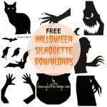 Free Downloads: Halloween Window Silhouettes