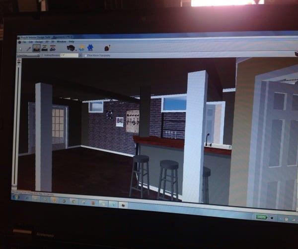 industrial basement computer rendering