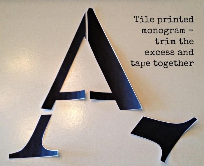 monogram untaped