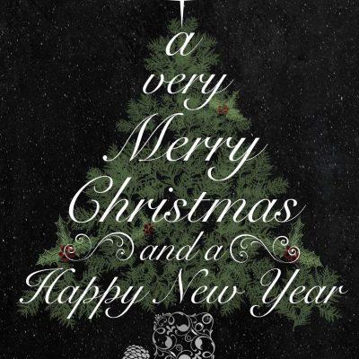 Free Printable: Christmas Tree Greeting