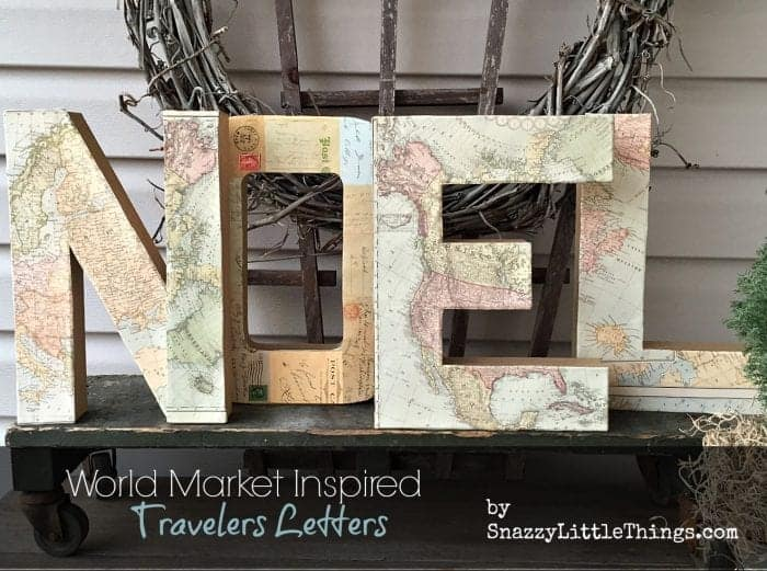 NOEL World market travelers letters knock off