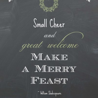 "Free Printable: ""Small Cheer Great Welcome"""