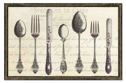 Vintage Flatware Placemat | found at Snazzy Little Things