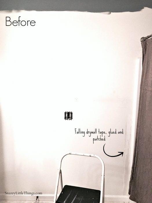 Bathroom Before Wayfair Linen Closet