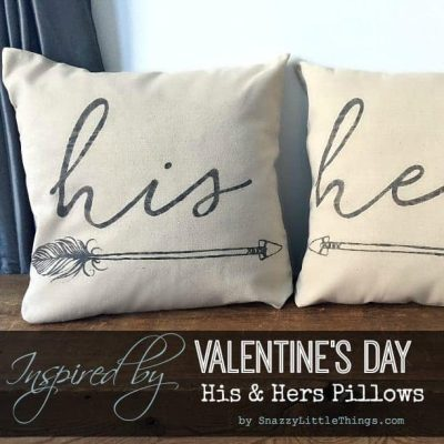 His Hers Arrow Pillows Inspired by Valentines Day
