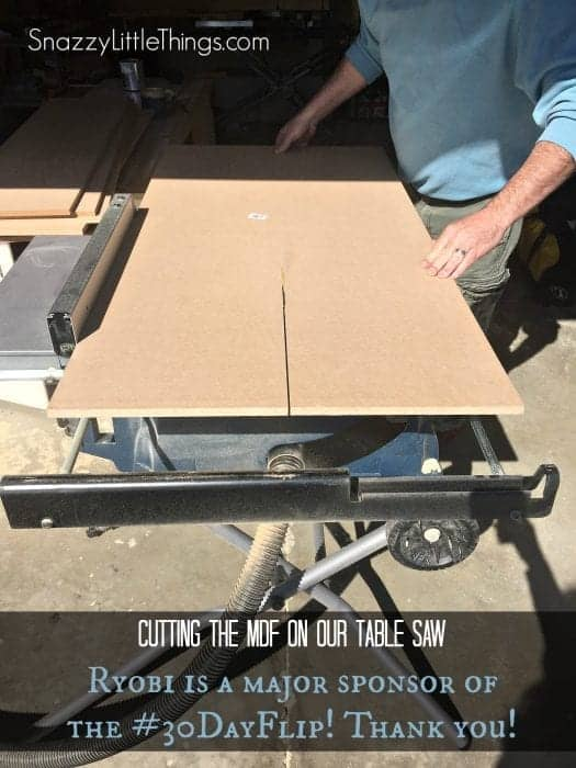Ryobi Table Saw MDF