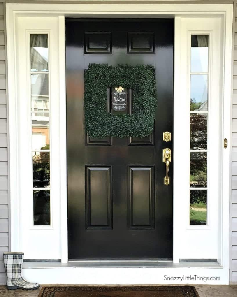 Glossy Black Front Door 1 @snazzylittlethings