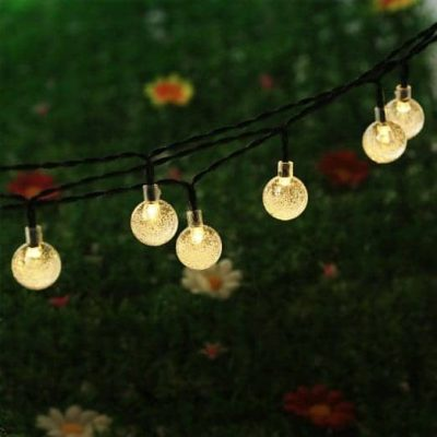 Budget Outdoor Decor Hacks Solar String Lighting | by Snazzylittlethings.com
