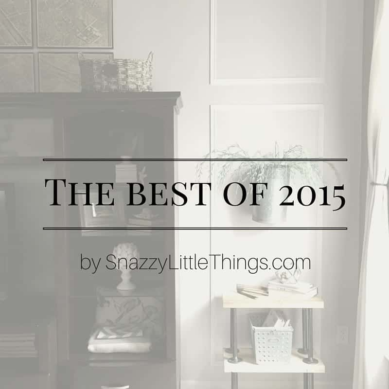 Best Projects of 2015 by SnazzyLittleThings.com