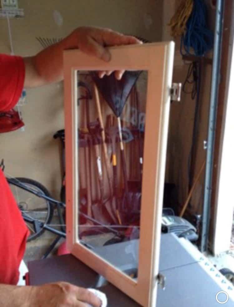 DIY Faux Leaded Glass Insert