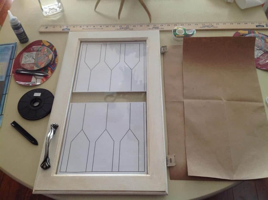 DIY Faux Leaded Glass Template