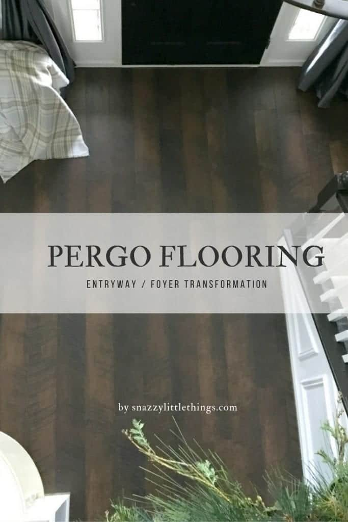 New floor in the foyer snazzy little things for Pergo flooring accessories