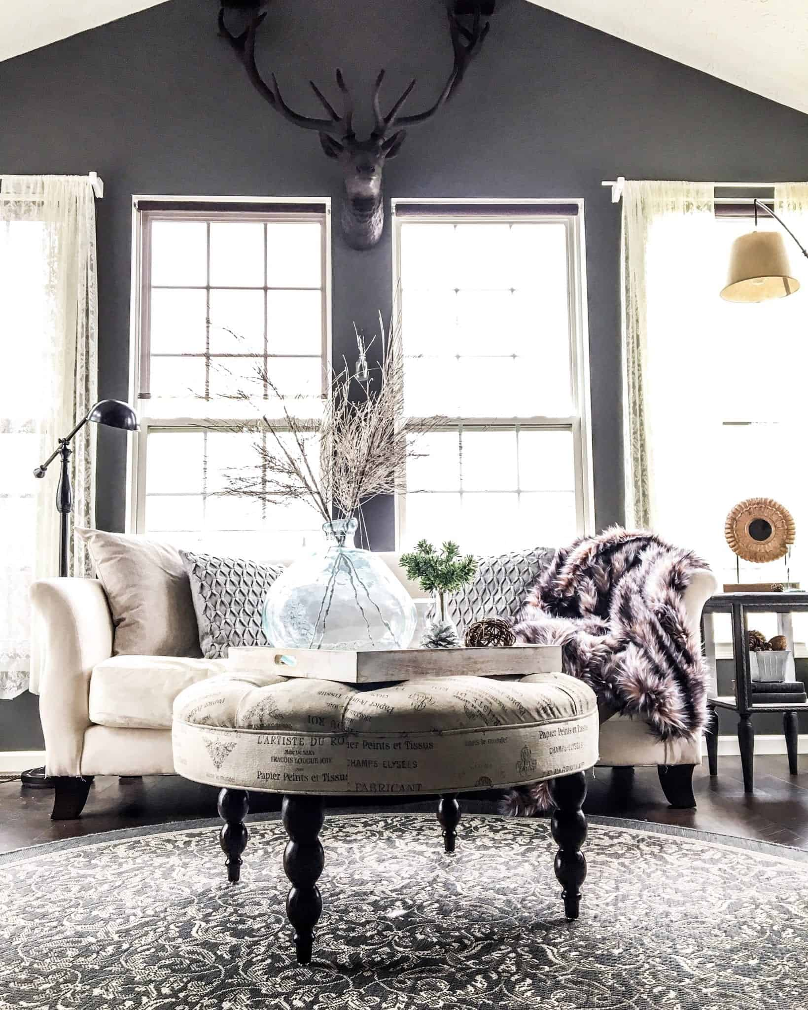 WInter Home Tour 2017 view of sunroom